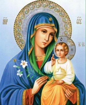 Алмазная живопись - мозаика Пресвятая Богородица