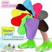 Водонепроницаемые многоразовые силиконовые бахилы на обувь от дождя и грязи