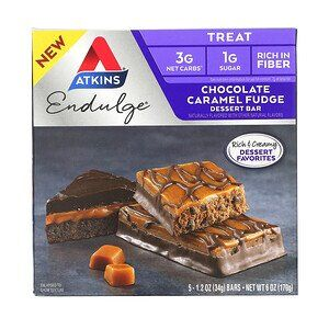 Atkins, Endulge, Chocolate Caramel Fudge 34 гр.
