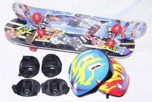 Скейтборд в комплекте со шлемом 200716748 3108TH