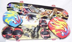 Скейтборд в комплекте со шлемом 200716747 3108T