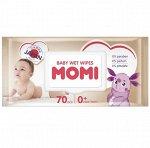 Детские влажные салфетки MOMI, 70 шт
