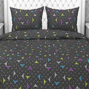 """""""Треугольники, серый"""" Постельное белье, комплект 2-х спальны"""