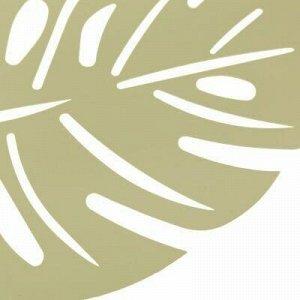 "Салфетка декоративная ""Лист"" 32х41см ПВХ, зеленый металлик ("