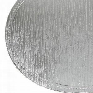 """Салфетка декоративная """"Сияние"""" 30х45см ПВХ, серебро (Китай)"""