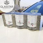 """Набор стопок Glasstar """"Стразы"""" / 6 шт. 50 мл"""