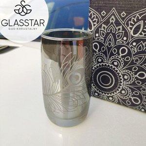 """Набор стаканов Glasstar """"Графит Перо"""" / 6 шт. 330 мл"""