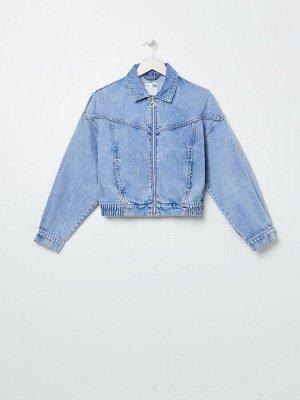 Джинсовая куртка на молнии