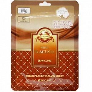 "370129 ""3W CLINIC"" Fresh Placenta Mask Sheet Маска тканевая для лица с плацентой 23 мл"