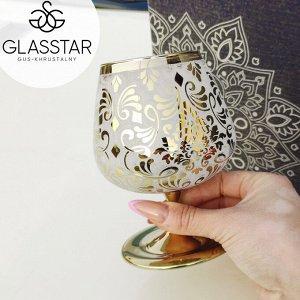 """Набор бокалов для бренди Glasstar """"Либерти"""" / 3 шт. 410 мл"""