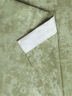 Комплект штор зеленого оттенка: 2 шторы по 150 см