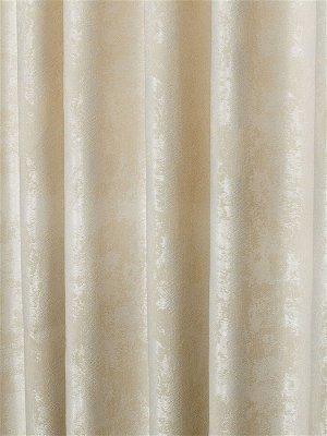 Комплект штор молочного оттенка: 2 шторы по 150 см