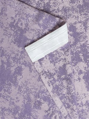 Комплект штор сиреневого оттенка: 2 шторы по 150 см