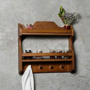 """Полка кухонная """"Винтаж"""", 45х45х10 см, массива дуба"""