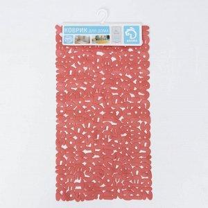 Коврик для ванны Доляна «Буквы», 36?68 см, цвет МИКС