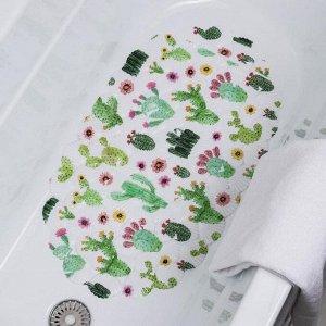 Коврик для ванны Доляна «Кактус», 38?66 см