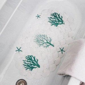 Коврик для ванны Доляна «Коралл», 38?66 см