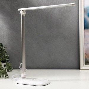 Светильник настольный TL-222 6Вт LED, на подставке, с диммером, белый/серебро
