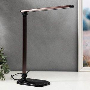 Светильник настольный TL-222 6Вт LED, на подставке, с диммером, черный/кофе