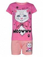 Комплект футболка и шорты для девочек арт. МД 005-34