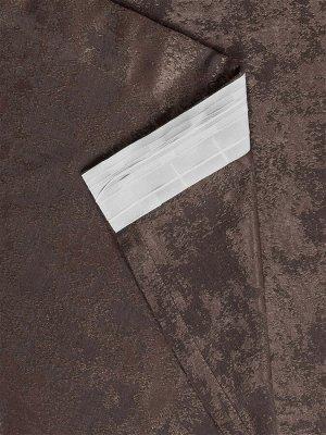 Комплект штор оттенка венге: 2 шторы по 150 см