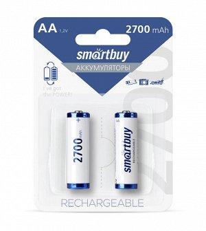 Аккумулятор NiMh Smartbuy AA/2BL 2700 mAh (24/240) (SBBR-2A02BL2700)(Цена за 2 шт.)