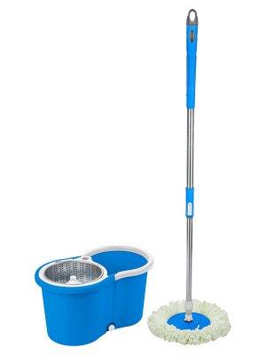 Швабра Объем ведра составляет 10 л, что исключает частую смену загрязненной воды Вес : 3.5кг. Уникальное приспособление для уборки помещений с вращающейся насадкой и системой отжима; Изготовлена из ле