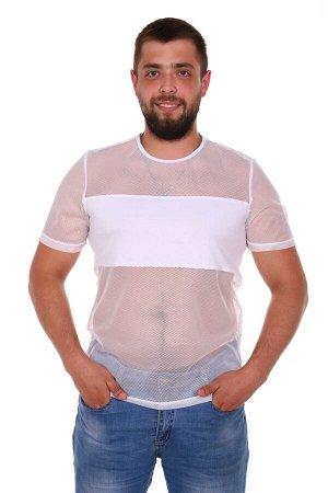 """Тарас Футболка """"Тарас"""". Трикотаж - Ложная сетка + вискоза. Размеры 46- 56.Мужская футболка выполнена из ложной сетки и вискозы. Легкая футболка прямого покроя, горловина футболки окант"""