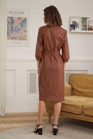 Платье Платье Fantazia Mod 3910  Состав: ПЭ-100%; Сезон: Весна Рост: 164  Переменчивая мода снова выдвинула в категорию популярных вещей кожаные платья. Наряду с молодежными игривыми луками они также