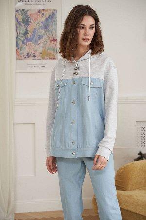 Куртка Куртка Fantazia Mod 3898  Состав: Хлопок-100%; Сезон: Весна Рост: 164  Джинсовая куртка - это вещь неимоверно практичная, стильная и удобная. Она отлично вписывается во множество сетов в стиле