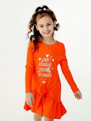 Платье Алиса д/р оранжевый