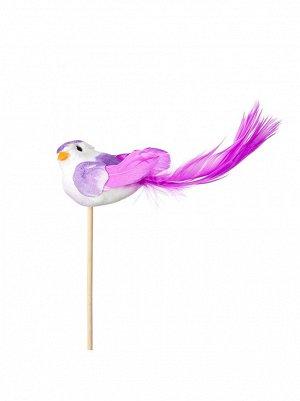 Птичка на вставке 4 х11 хН50 см цвет сиреневый арт 90112089