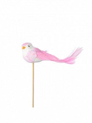 Птичка на вставке 4 х11 хН50 см цвет розовый арт 90112086