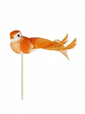 Птичка на вставке 4 х11 хН50 см цвет оранжевый арт 90112087