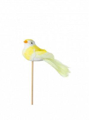 Птичка на вставке 4 х11 хН50 см цвет желтый арт 90112088