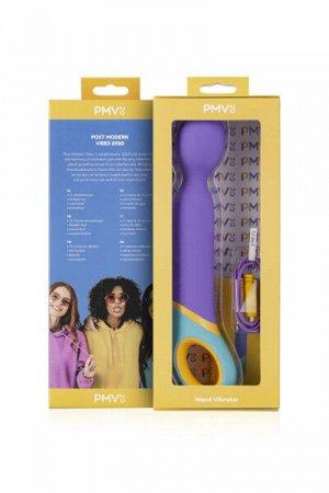 Нереалистичный вибратор pmv, base - wand , силикон, фиолетовый, 24 см.