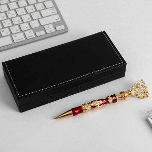 Сувенирные Ручка металл с гербом, цвет красный