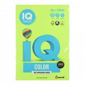 Бумага цветная А4 500 л, IQ COLOR, 80 г/м2, зеленый неон, NEOGN