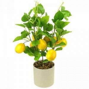 """Декоративное дерево """"Лимон"""" h40см в пластмассовом горшке д11"""