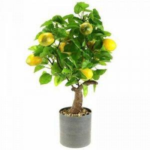 """Декоративное дерево """"Лимон"""" h52см в пластмассовом горшке д12"""