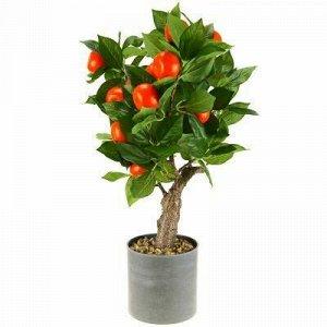 """Декоративное дерево """"Мандарин"""" h52см в пластмассовом горшке"""