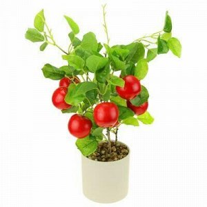 """Декоративное дерево """"Яблонька"""" h40см, красный, в пластмассов"""