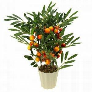 """Декоративное дерево """"Яблонька"""" h46см в пластмассовом горшке"""