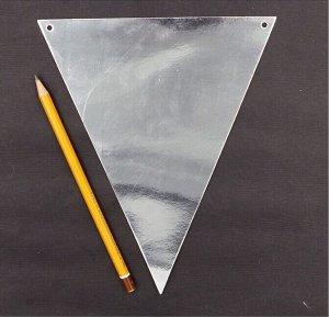 Гирлянда вымпел 240 см бумага цвет серебрянный