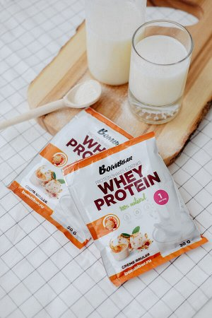 Порционный протеин Крем-Брюле Whey protein Cream Brulee Bombbar 30 гр.
