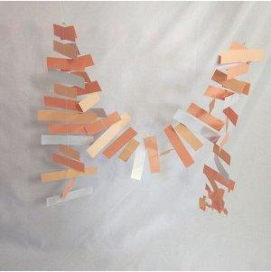 Гирлянда Полоски 188 см бумага цвет розовый HS-21-8