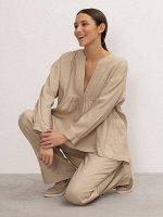 Блузка в полоску B2594/waist