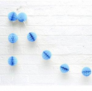 Гирлянда Шар соты 1,5 м 8 шаров 8 см цвет синий  HS-26-21