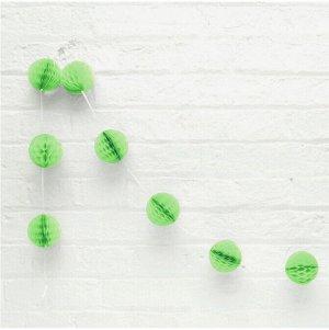 Гирлянда Шар соты 1,5 м 8 шаров 8 см цвет зеленый