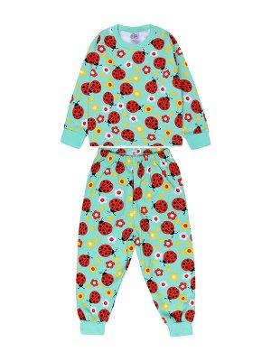 Пижама для девочки ментоловый